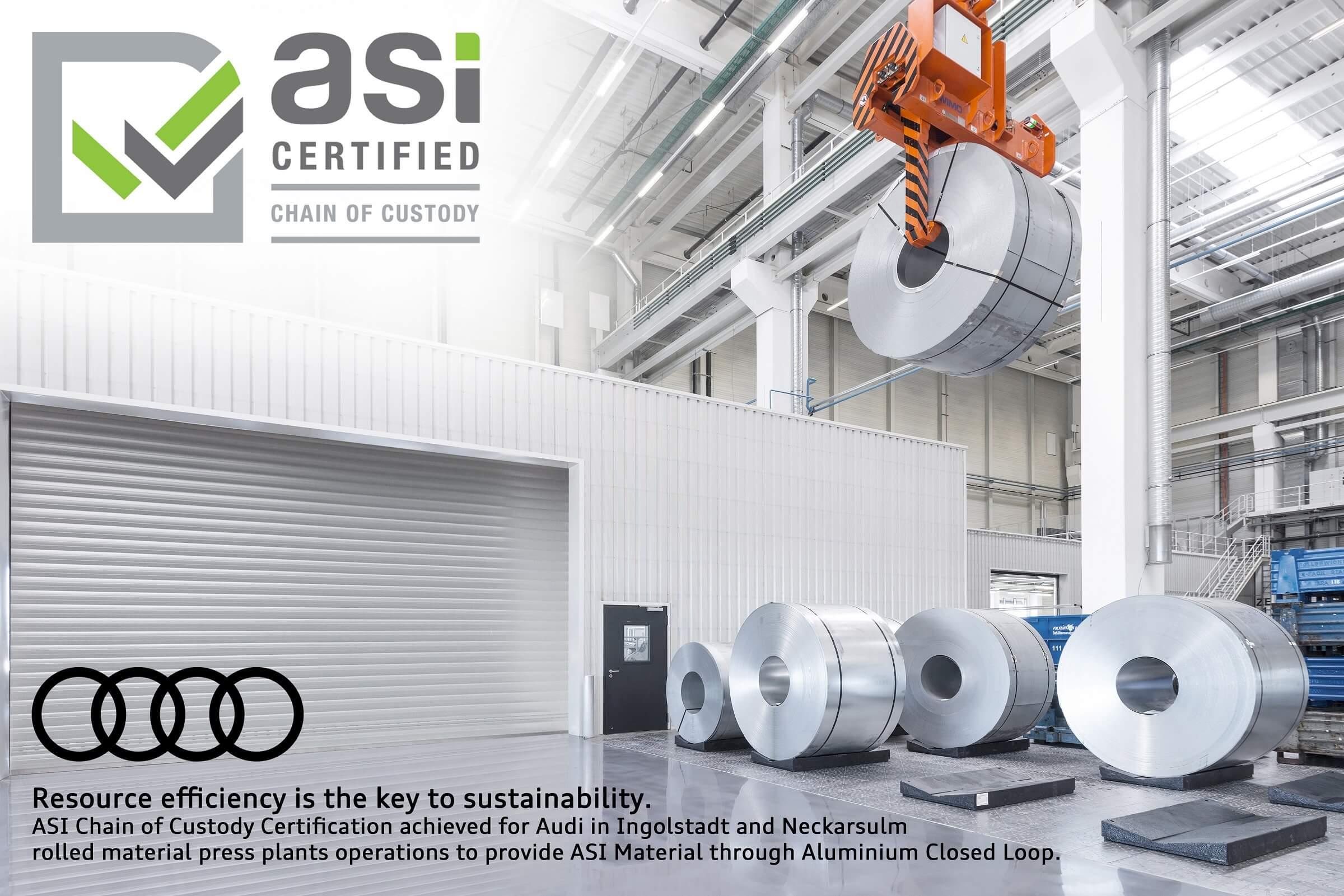 AUDI - ASI Πιστοποίηση διαχείρισης αλουμινίου
