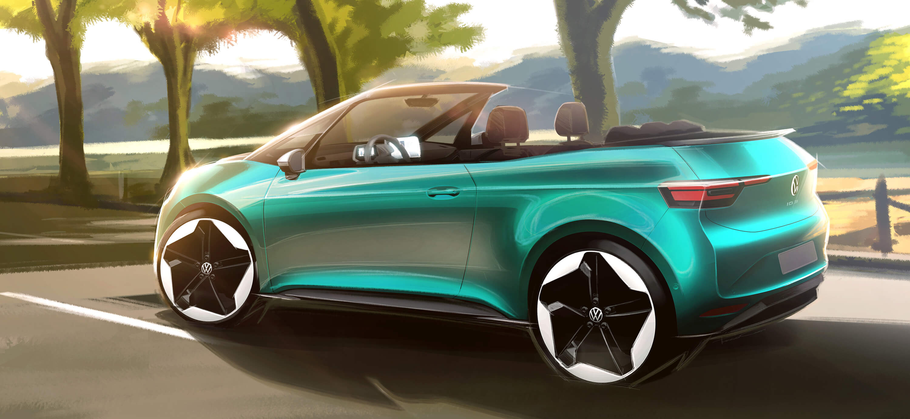 VW ID.3 CABRIO - design sketch