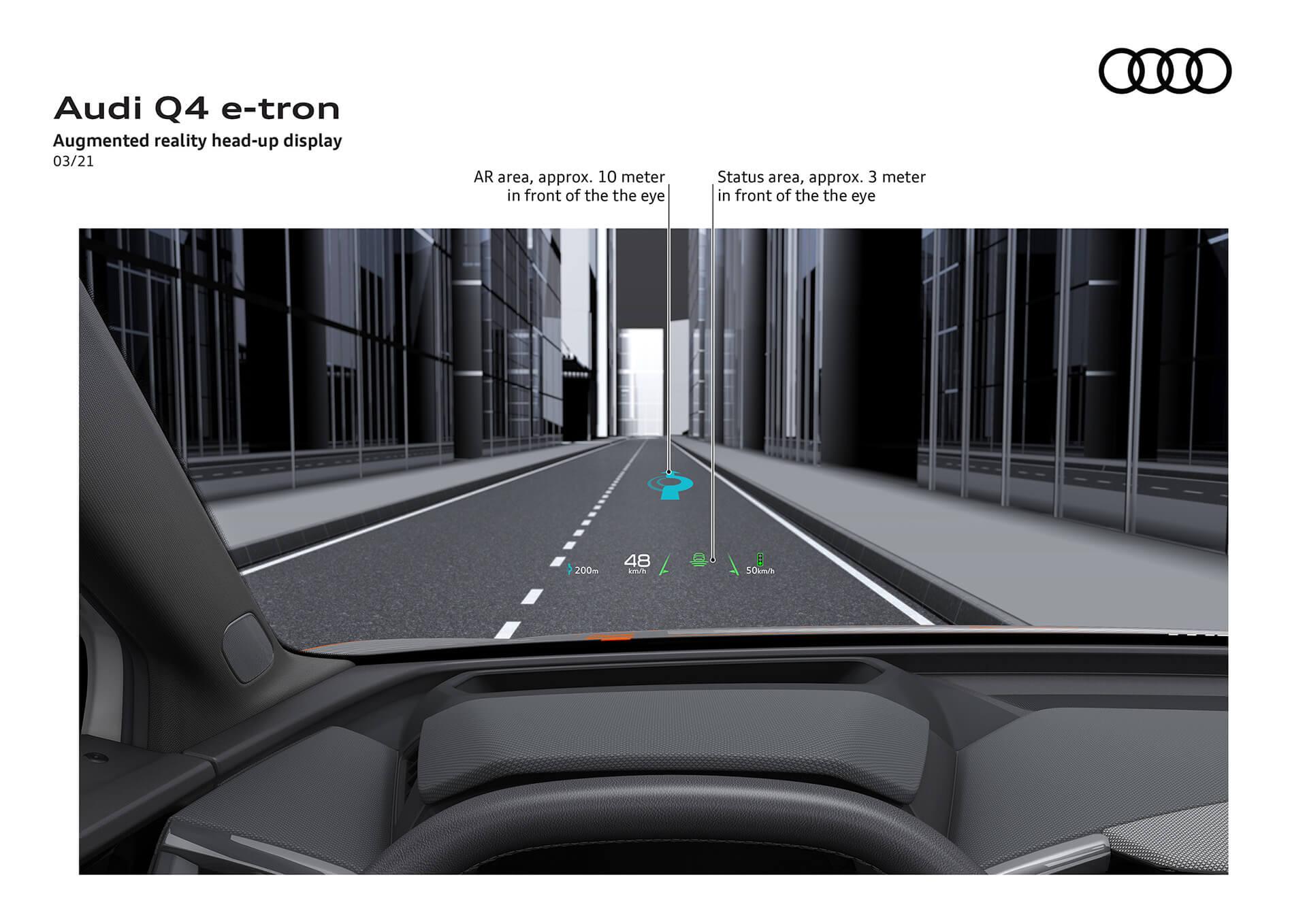 NEO AUDI Q4 E-TRON - Augmented reality head-up display