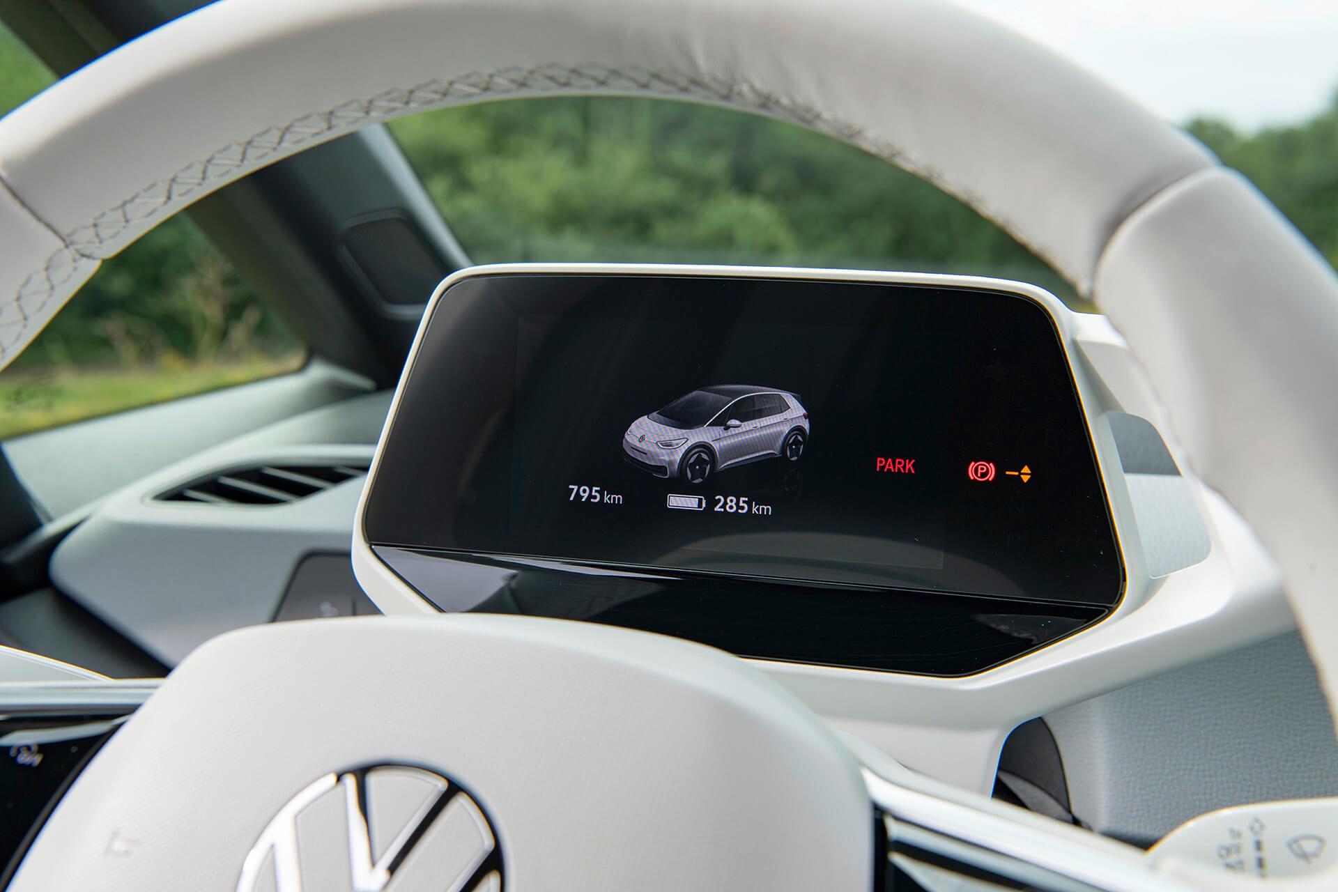 VW ID.3 - Οθόνη πίνακα οργάνων