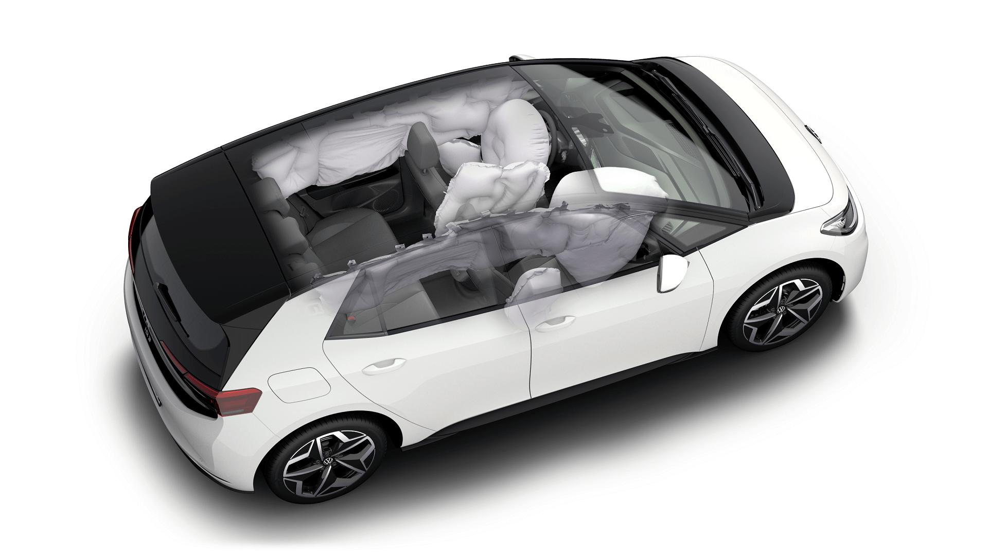 VW ID.3 - Emergency System που περιλαμβάνει και έναν κεντρικό αερόσακο
