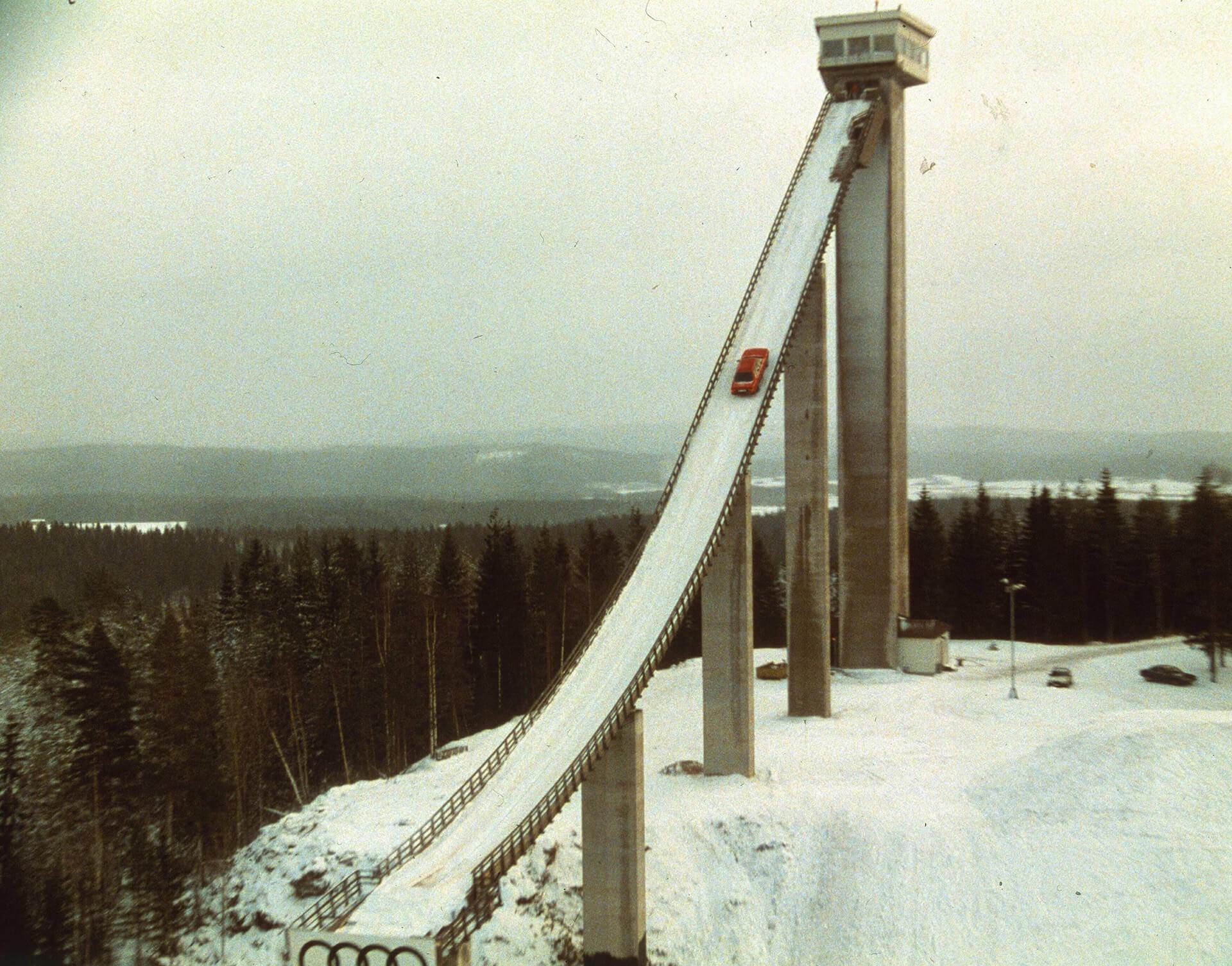Audi quattro - 80% ήταν η κλίση του άλματος του σκι στο Kaipola της Φινλανδίας, όπου η Audi μαγνητοσκόπησε ένα θρυλικό διαφημιστικό το 1986