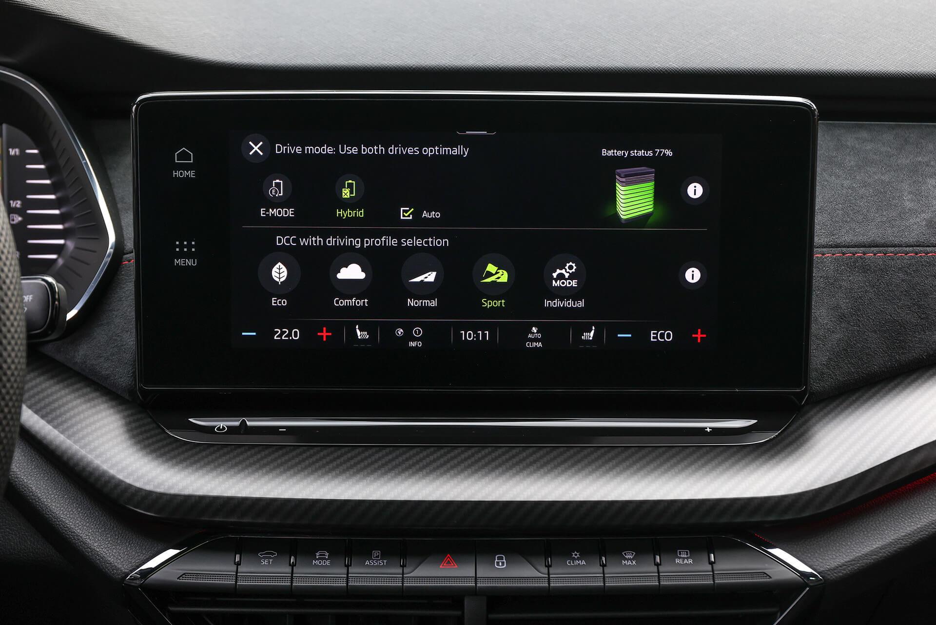 SKODA OCTAVIA RS iV - Drive Mode προβολή