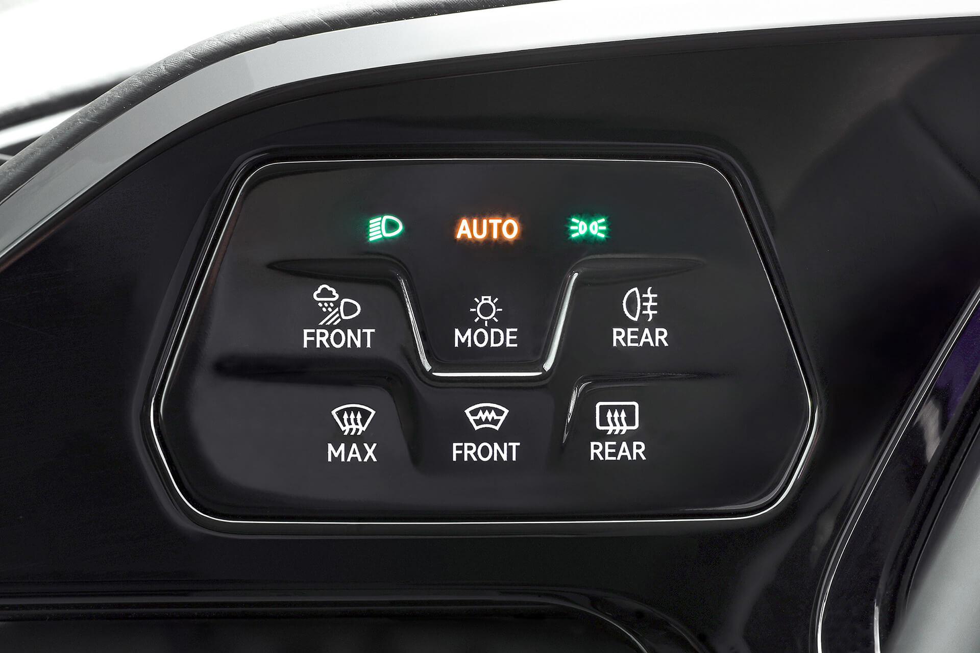"""Νέο Volkswagen Caddy - Ομάδα μπουτόν """"Light & Sight"""" για τα φώτα"""