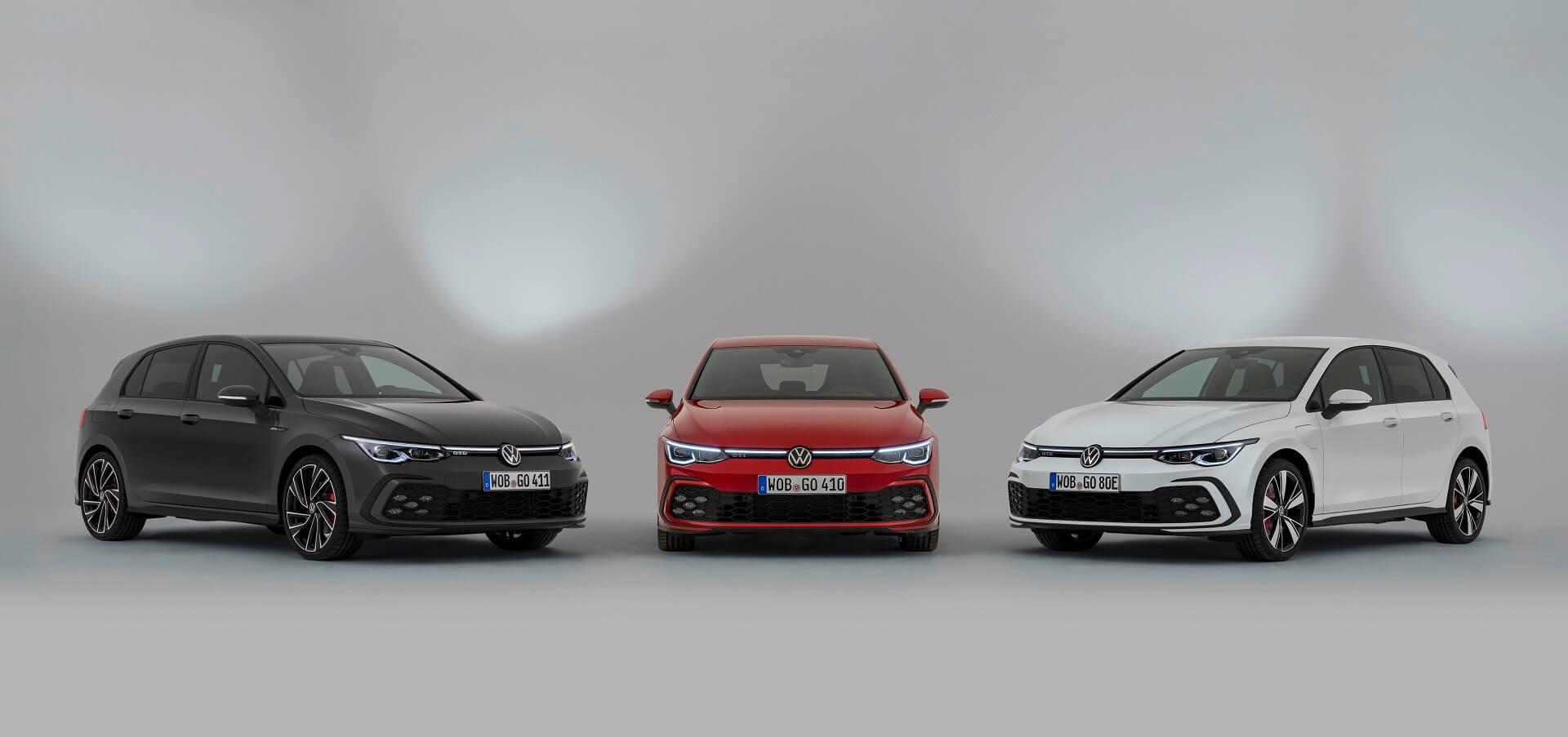 Νέο Volkswagen Golf GTI, GTE και GTD