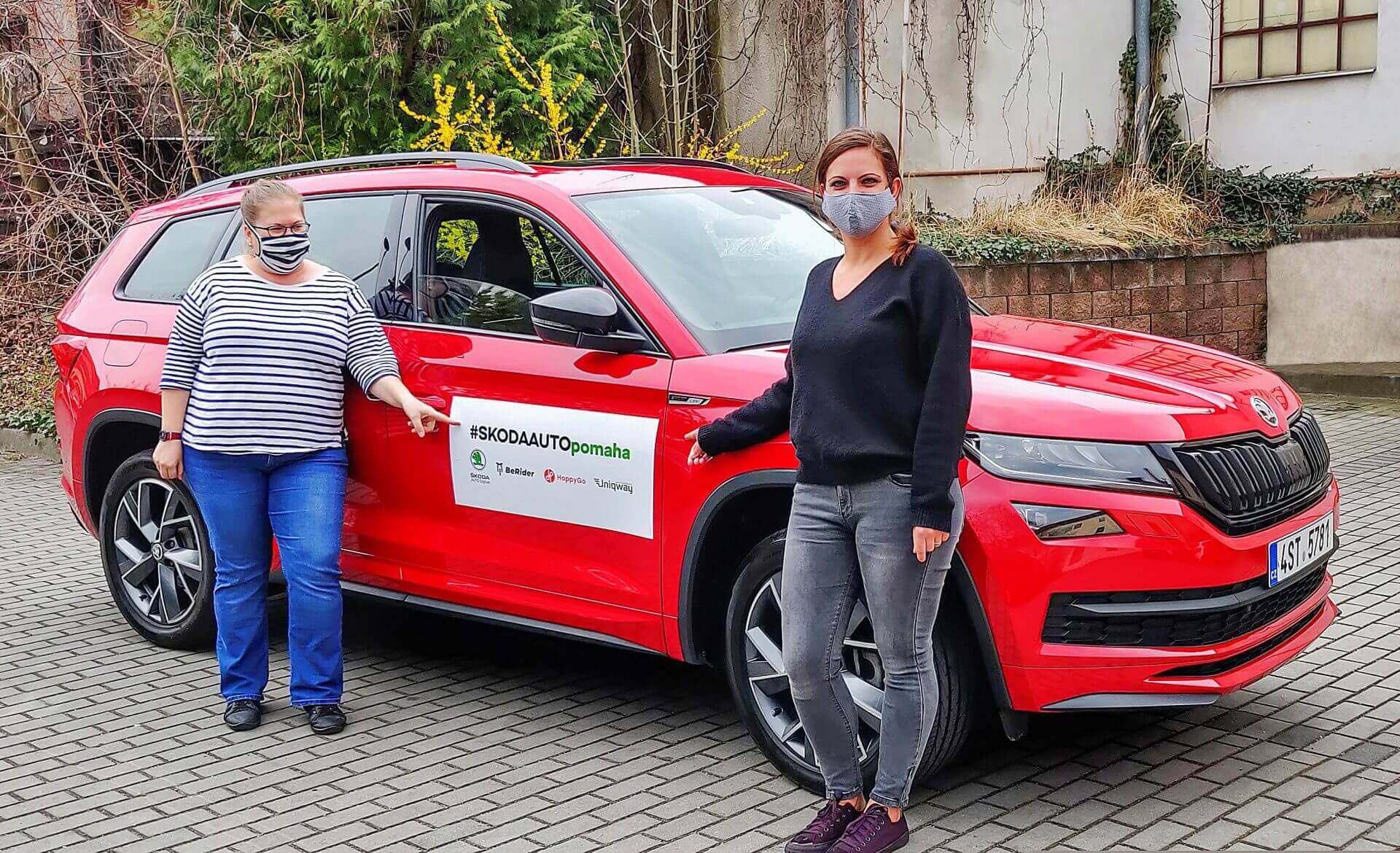 Φωτογραφία από τις ενέργειες στήριξης για την αντιμετώπιση του κορωνοϊού που παρέχει η SKODA AUTO στην Τσεχία
