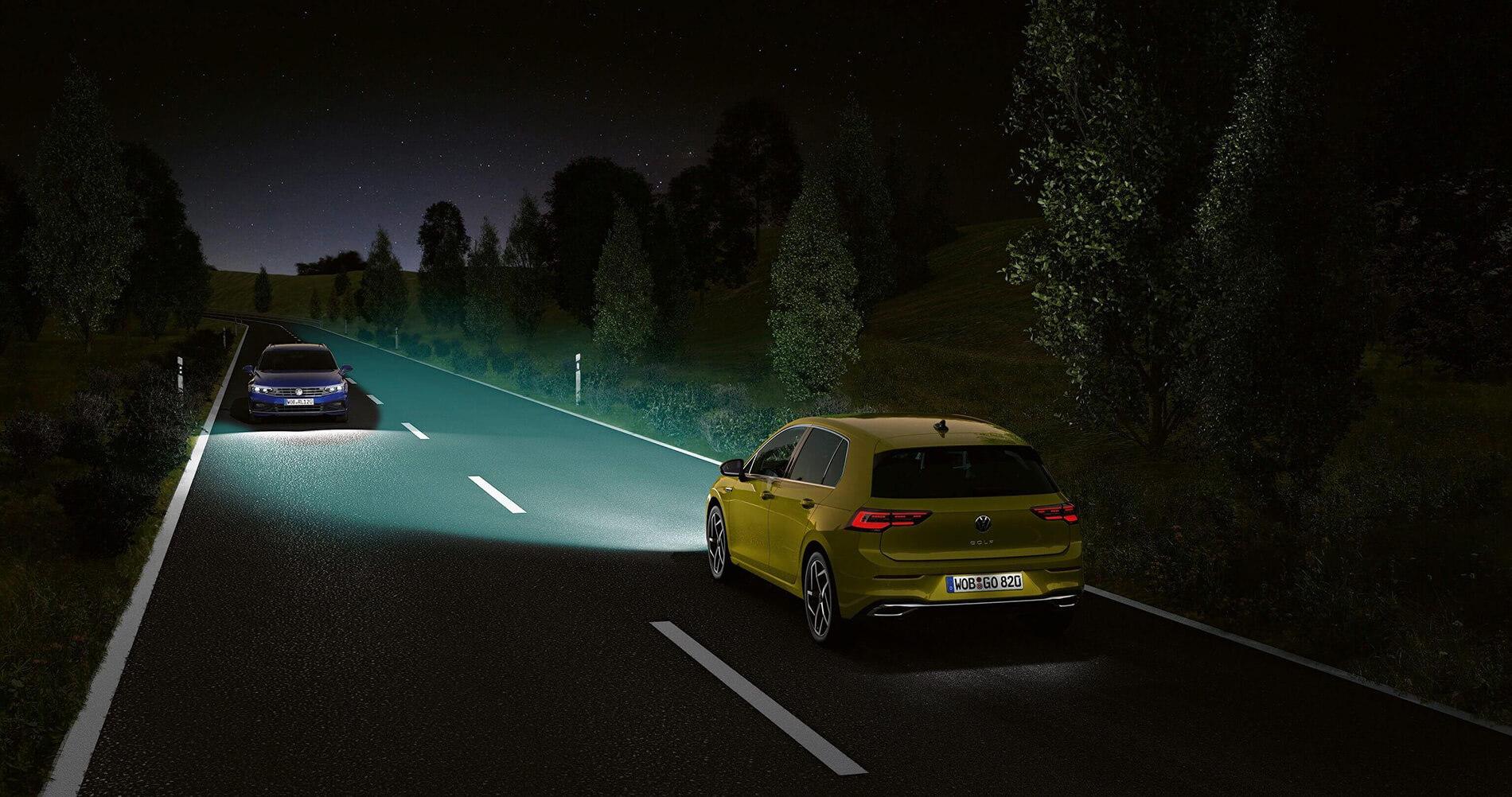 Λειτουργία Dynamic Light Assist στο νέο Volkswagen Golf για κορυφαία ορατότητα