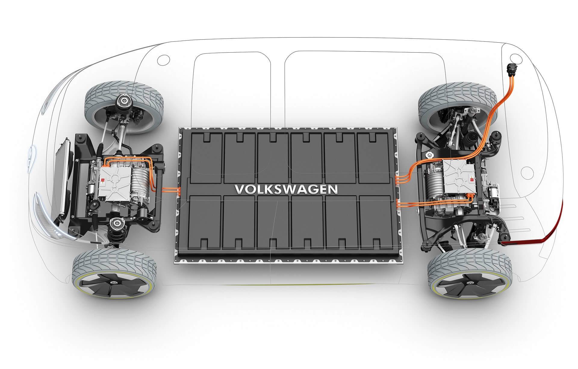 Volkswagen - Ηλεκτρικά αυτοκίνητα και Λίθιο - Απεικόνιση ηλεκτρικού συστήματος