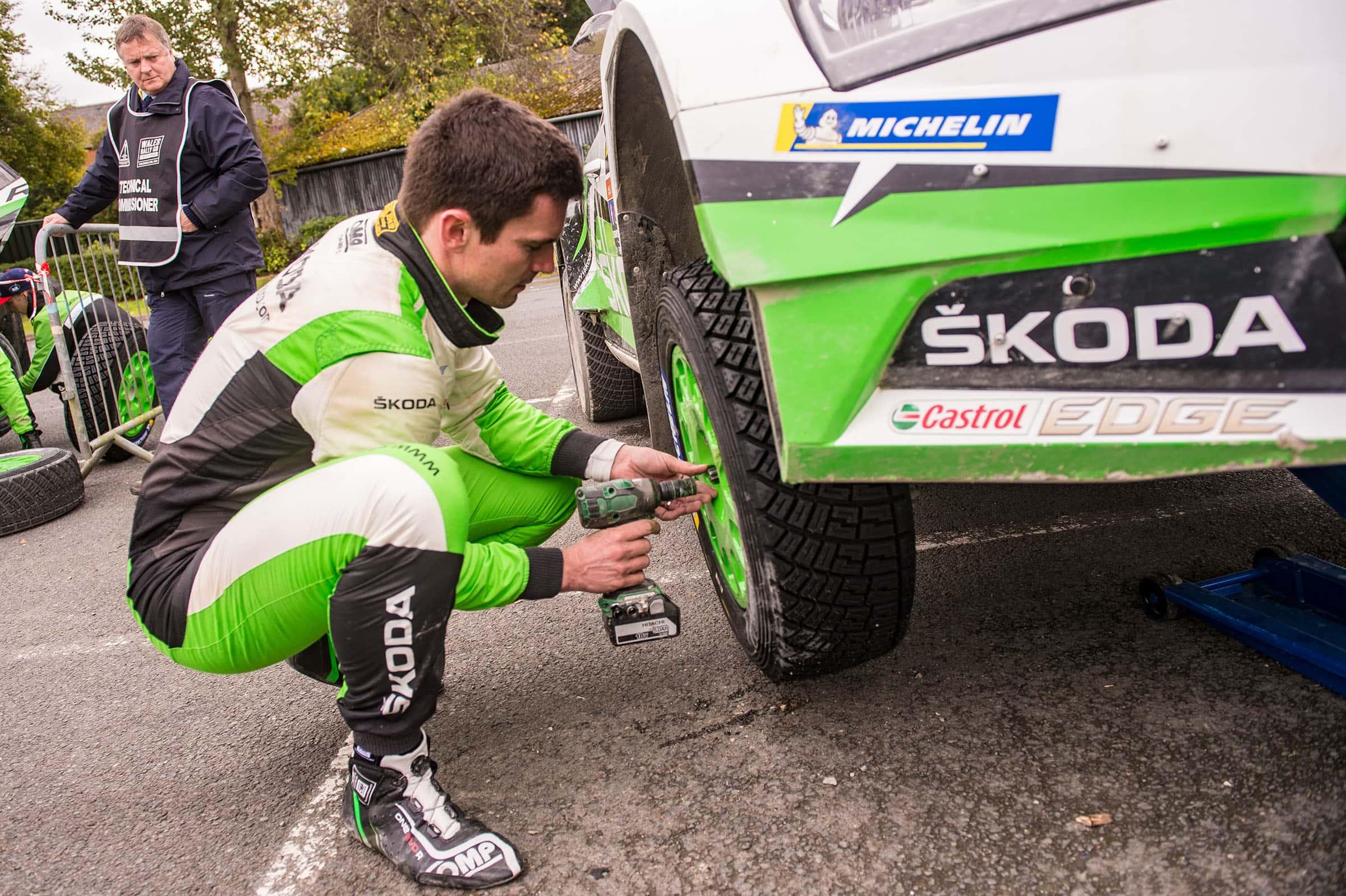 Skoda Motorsport - Γιαν Κοπέτσκυ - Αλλαγή Ελαστικού