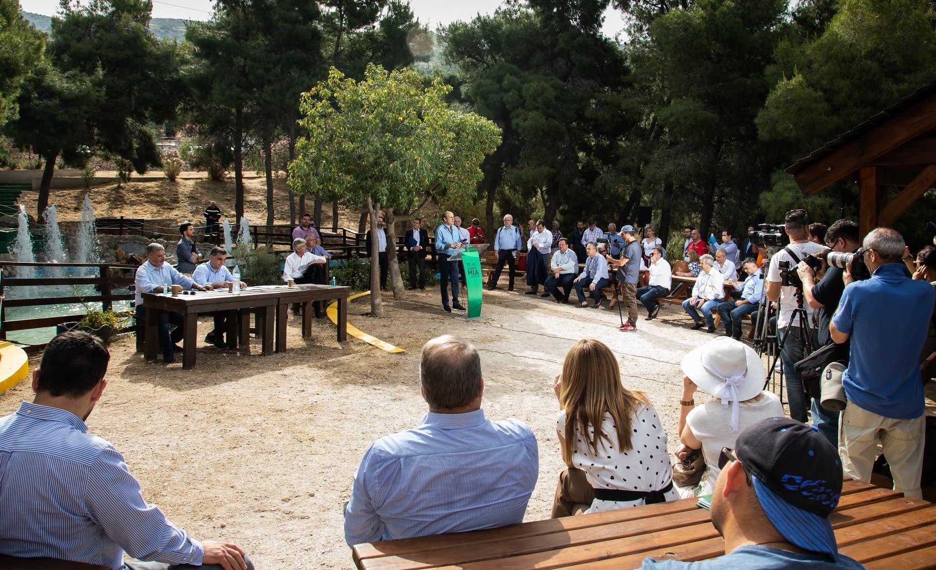 Εκδήλωση υπογραφής μνημονίου συνεργασίας ΥΠΕΝ - ΣΠΑΥ για την αναβάθμιση του Υμηττού