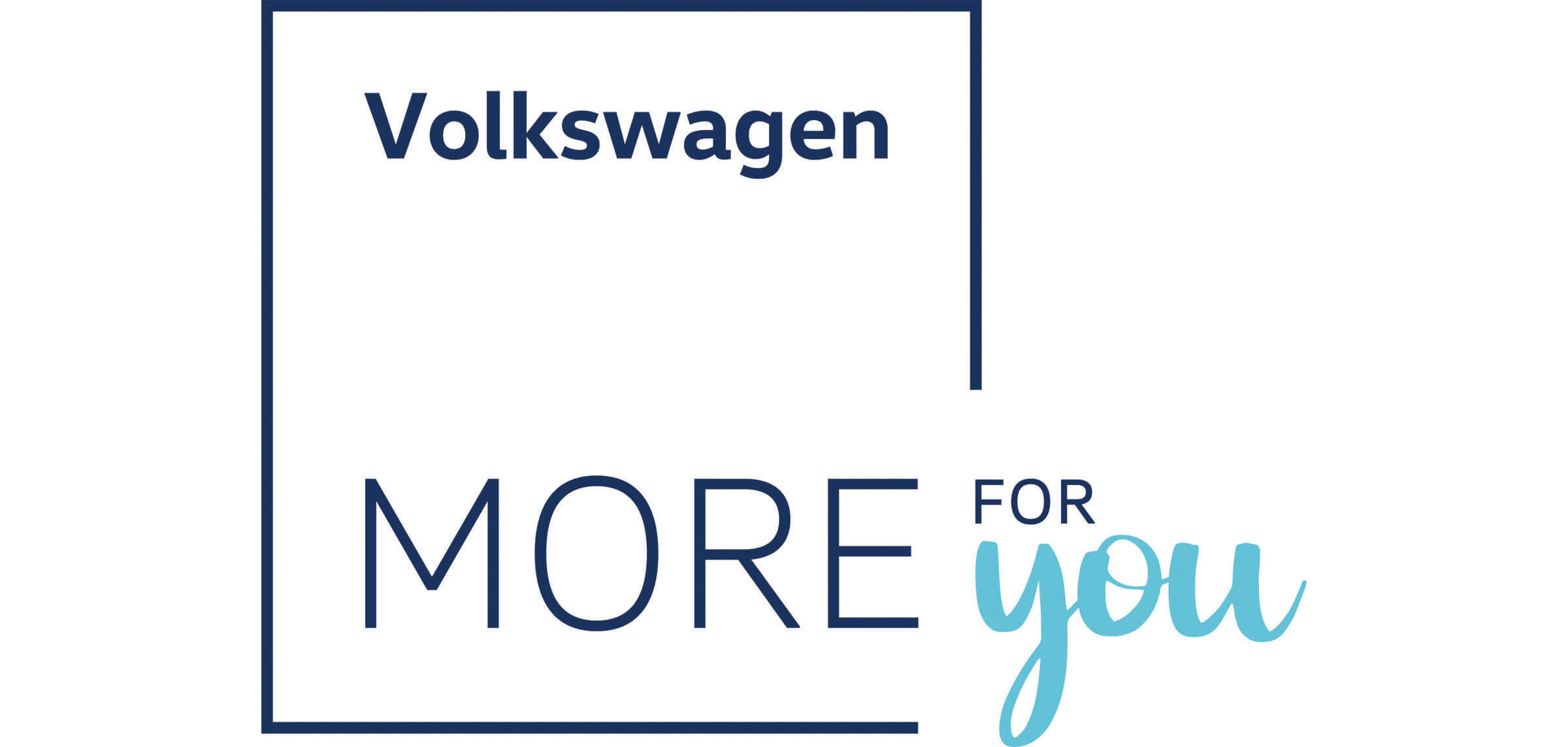 Volkswagen more for you logo