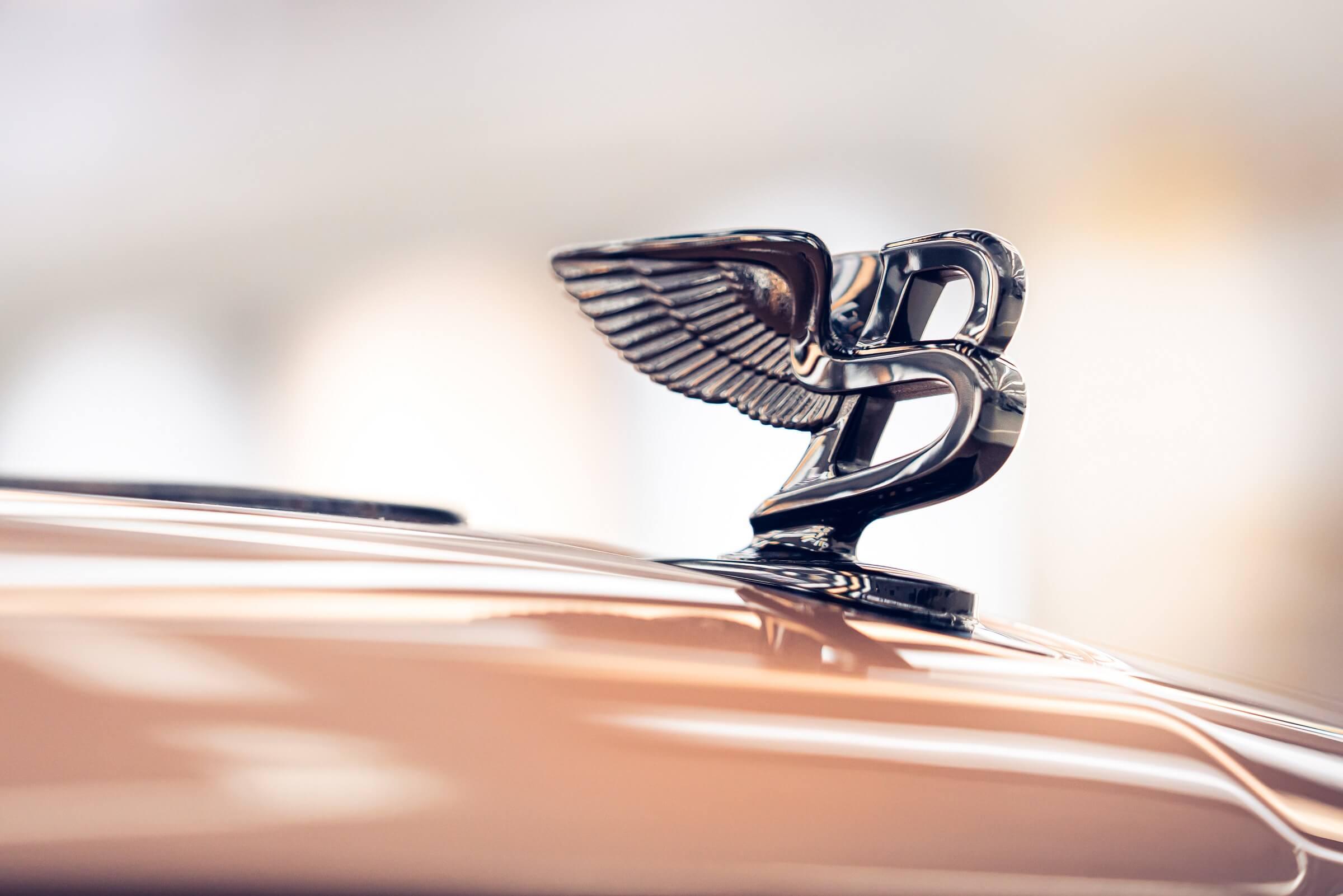Bentley Mulsanne - Το τέλος μιας εποχής - Λεπτομέρεια από το σήμα στο καπό
