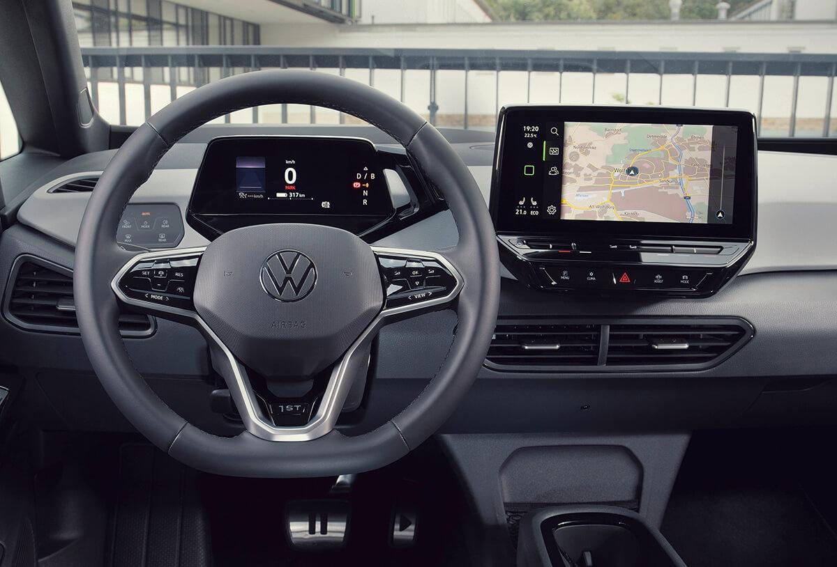 Volkswagen ID.3 1st edition - Εσωτερικό, πολυλειτουργικό τιμόνι, ταμπλό