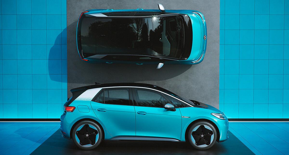 Volkswagen ID.3 1st edition - Πλαϊνή όψη και κάτοψη