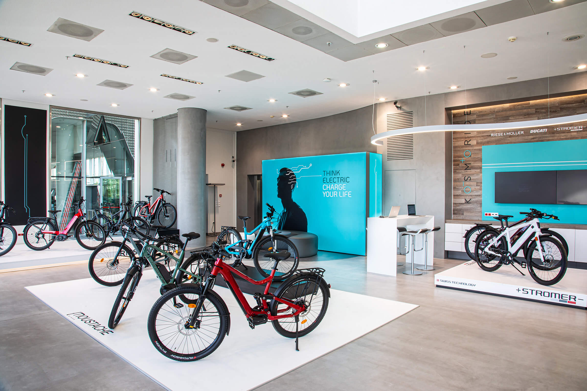 Kosmoride e-Bikes experience store - Εσωτερικός χώρος καταστήματος ηλεκτρικών ποδηλάτων στο Μαρούσι